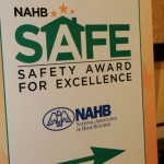 NAHB Safe sigh with arrow