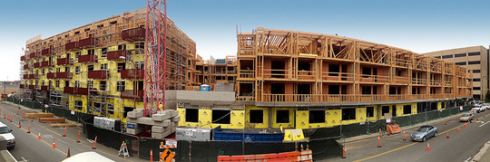 Project Highlight - The Lex at Orange in Glendale CA for Hill Contractors 310 Units - 2-5 story - 394,259 Sq. Ft.